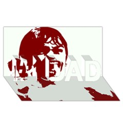 Psycho #1 Dad 3d Greeting Card (8x4)  by icarusismartdesigns
