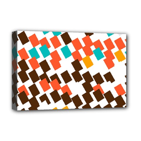Rectangles On A White Background Deluxe Canvas 18  X 12  (stretched) by LalyLauraFLM