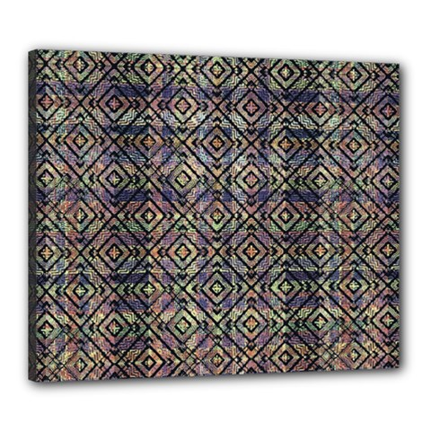 Multicolored Ethnic Check Seamless Pattern Canvas 24  X 20  by dflcprints