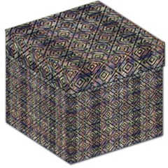Multicolored Ethnic Check Seamless Pattern Storage Stool 12   by dflcprints