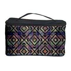 Multicolored Ethnic Check Seamless Pattern Cosmetic Storage Cases by dflcprints