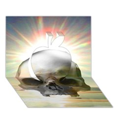 Skull Sunset Apple 3d Greeting Card (7x5)
