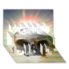 Skull Sunset You Did It 3d Greeting Card (7x5) by icarusismartdesigns