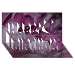 Purple! Happy Birthday 3d Greeting Card (8x4)  by timelessartoncanvas