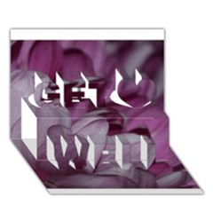 Purple! Get Well 3d Greeting Card (7x5)