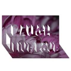 Purple! Laugh Live Love 3d Greeting Card (8x4)  by timelessartoncanvas