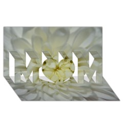 White Flowers MOM 3D Greeting Card (8x4)