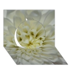 White Flowers Circle 3d Greeting Card (7x5)  by timelessartoncanvas