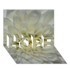 White Flowers Hope 3d Greeting Card (7x5)  by timelessartoncanvas