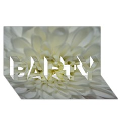 White Flowers Party 3d Greeting Card (8x4)  by timelessartoncanvas