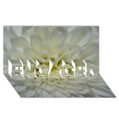 White Flowers ENGAGED 3D Greeting Card (8x4)