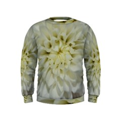 White Flowers Boys  Sweatshirts by timelessartoncanvas