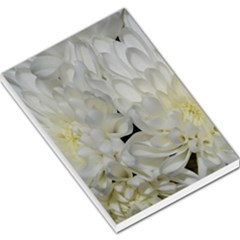 White Flowers 2 Large Memo Pads by timelessartoncanvas