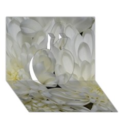 White Flowers 2 Apple 3d Greeting Card (7x5)  by timelessartoncanvas