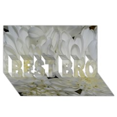 White Flowers 2 Best Bro 3d Greeting Card (8x4)  by timelessartoncanvas