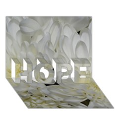 White Flowers 2 Hope 3d Greeting Card (7x5)  by timelessartoncanvas