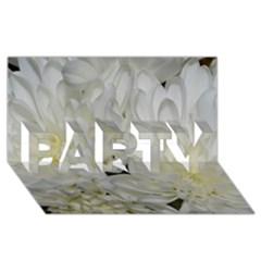 White Flowers 2 Party 3d Greeting Card (8x4)  by timelessartoncanvas