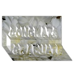 White Flowers 2 Congrats Graduate 3d Greeting Card (8x4)  by timelessartoncanvas