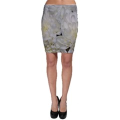 White Flowers 2 Bodycon Skirts by timelessartoncanvas