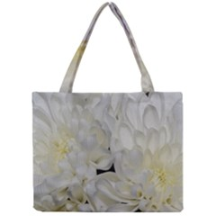 White Flowers 2 Tiny Tote Bags by timelessartoncanvas