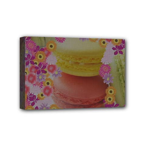 Macaroons And Floral Delights Mini Canvas 6  X 4  by LovelyDesigns4U