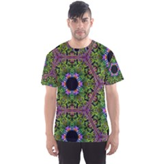 Repeated Geometric Circle Kaleidoscope Men s Sport Mesh Tees by canvasngiftshop