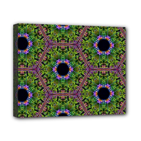Repeated Geometric Circle Kaleidoscope Canvas 10  X 8  by canvasngiftshop
