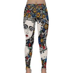 Flower Woman Yoga Leggings  by DryInk