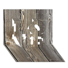 Wood Fence Love 3d Greeting Card (7x5)  by trendistuff