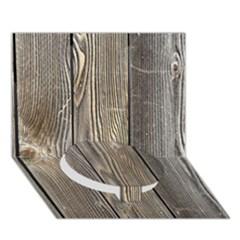 Wood Fence Circle Bottom 3d Greeting Card (7x5)