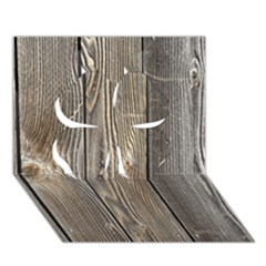 Wood Fence Clover 3d Greeting Card (7x5)