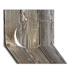 Wood Fence Circle 3d Greeting Card (7x5)  by trendistuff