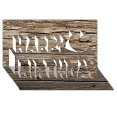 Weathered Wood Happy Birthday 3d Greeting Card (8x4)