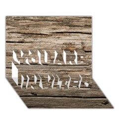 Weathered Wood You Are Invited 3d Greeting Card (7x5)