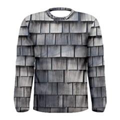 WEATHERED SHINGLE Men s Long Sleeve T-shirts