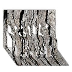 Tree Bark You Rock 3d Greeting Card (7x5)