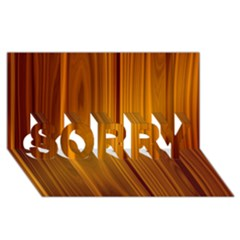 Shiny Striated Panel Sorry 3d Greeting Card (8x4)