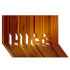 Shiny Striated Panel Hugs 3d Greeting Card (8x4)
