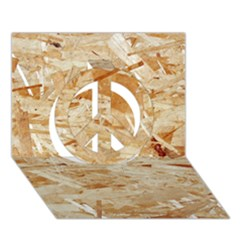 Osb Plywood Peace Sign 3d Greeting Card (7x5)