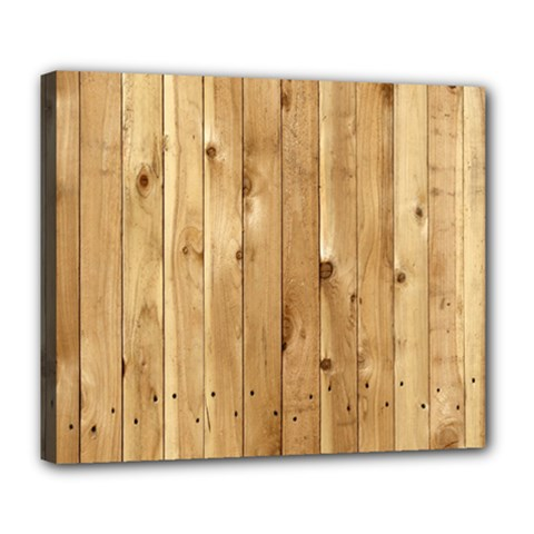 Light Wood Fence Deluxe Canvas 24  X 20   by trendistuff