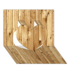 Light Wood Fence Heart 3d Greeting Card (7x5)