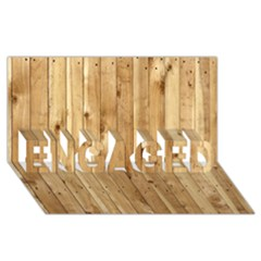Light Wood Fence Engaged 3d Greeting Card (8x4)  by trendistuff