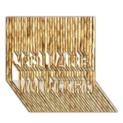 Light Beige Bamboo You Are Invited 3d Greeting Card (7x5)
