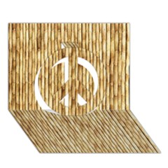 Light Beige Bamboo Peace Sign 3d Greeting Card (7x5)  by trendistuff