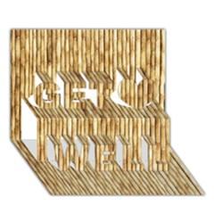 Light Beige Bamboo Get Well 3d Greeting Card (7x5)
