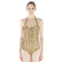 Women s Halter One Piece Swimsuit by trendistuff