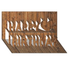 Knotty Wood Happy Birthday 3d Greeting Card (8x4)