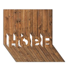 Knotty Wood Hope 3d Greeting Card (7x5)
