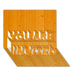 Honey Maple You Are Invited 3d Greeting Card (7x5)  by trendistuff