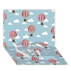 Hot Air Balloon Love Bottom 3d Greeting Card (7x5)